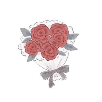 Rosenstrauß. auf weißem hintergrund.