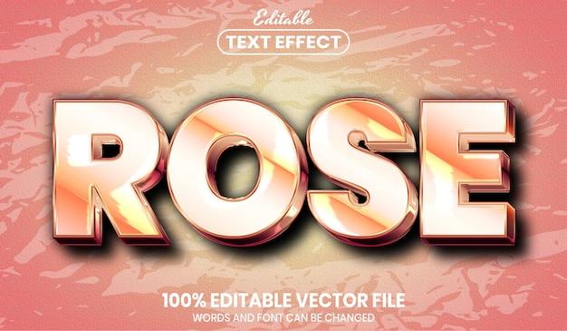 Rosentext, bearbeitbarer texteffekt im schriftstil