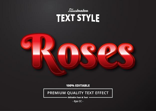 Roses text effekt