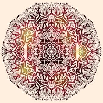 Rosette patchwork verzierten retro indischen