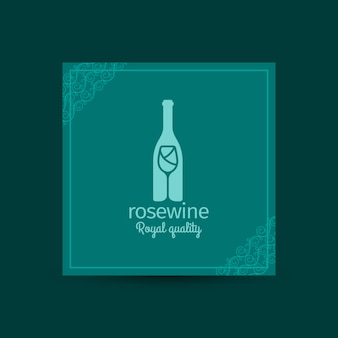 Rosewine königliche quadratische karte