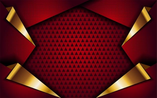 Rot mit goldener linie abstrakter moderner hintergrund