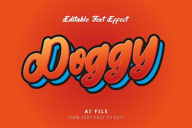 Rot orange doggy tex style effekt
