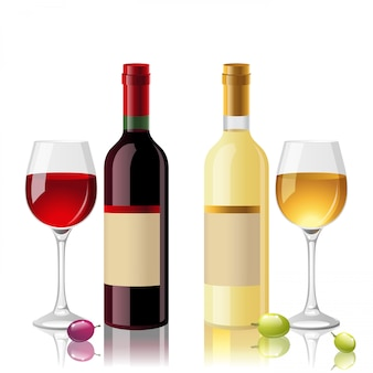 Rot- und weißwein