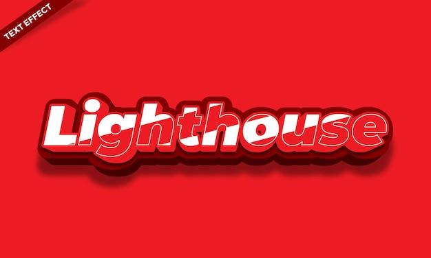Rot-weißer leuchtturm-texteffekt-design