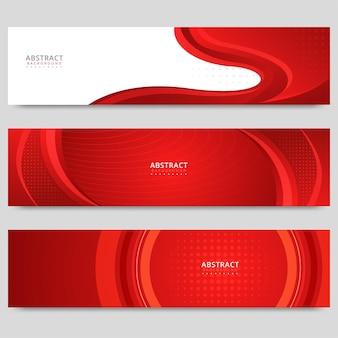 Rot-weißes abstraktes banner