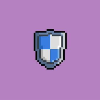 Rot-weißes schild mit pixel-art-stil