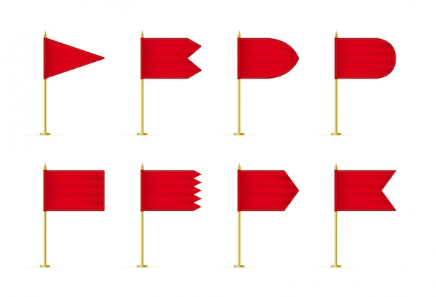Rote 3d flagge