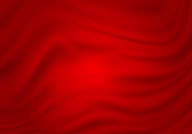 Rote abstrakte seidensatintexturtextilvorhangstoffwelle