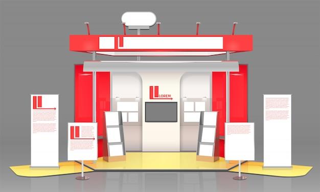 Rote ausstellungsvitrine design