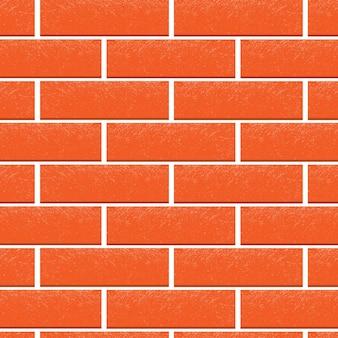Rote backsteinmauer vektor hintergrund mit textur. flache illustration für design-interieur, banner-vorlage, website.