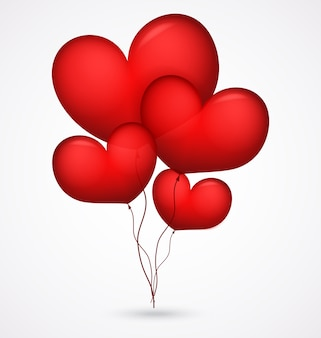 Rote ballon herzform
