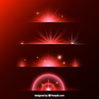 Rote blendenfleck-teilersammlung