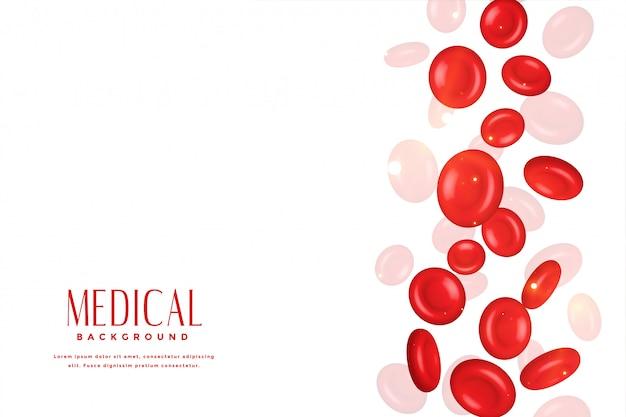 Rote blutkörperchen im medizinischen konzepthintergrund 3d