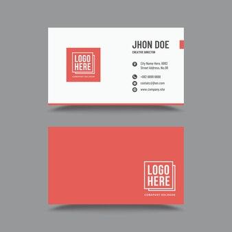Rote box visitenkarte