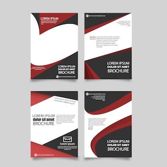 Rote broschüre vorlage