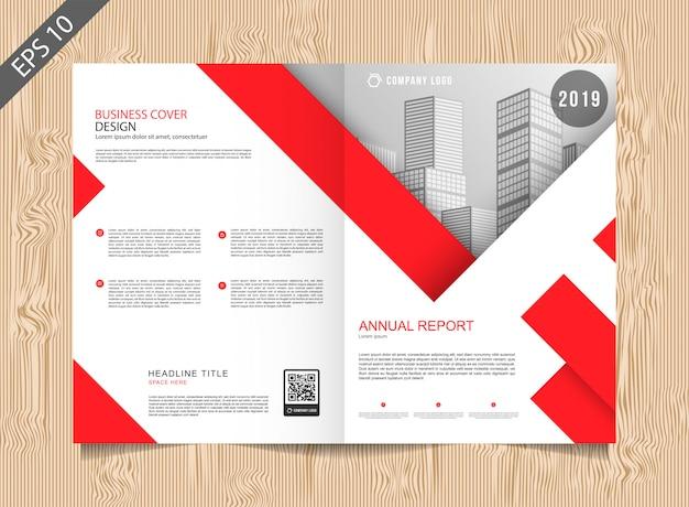 Rote broschürenvorlage