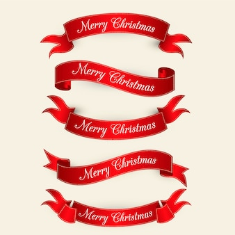 Rote elegante weihnachtskollektion