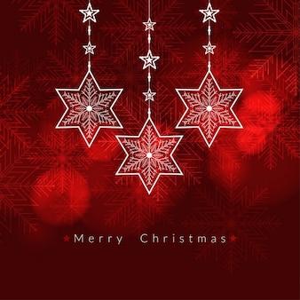Rote farbe frohe weihnachten hintergrund