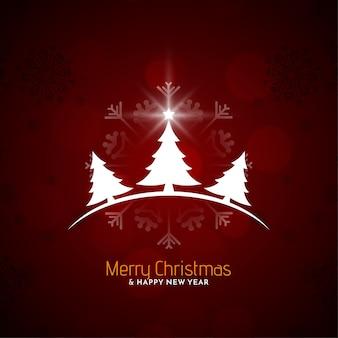 Rote farbe schönen frohen weihnachtshintergrund
