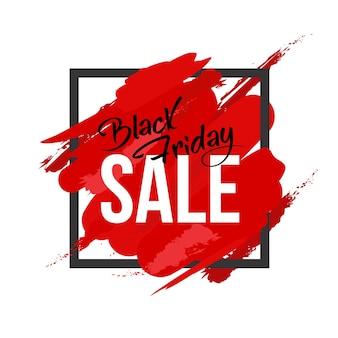 Rote farbe spritzt black friday design
