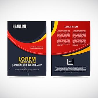 Rote flyer design-vorlage