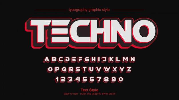 Rote futuristische sport-mutige typografie