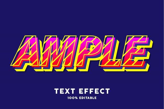 Rote gelbe frische farbe pop-art-text-effekt