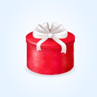 Rote geschenkbox mit schleife