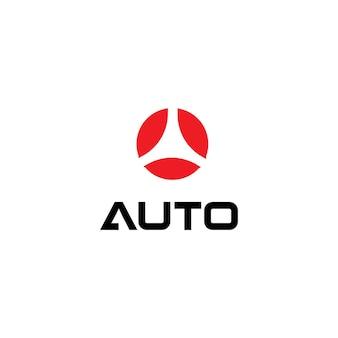 Rote halbkreise in kreisformzielsymbol isoliertes symbol auf weißem hintergrund rundes automobillogo