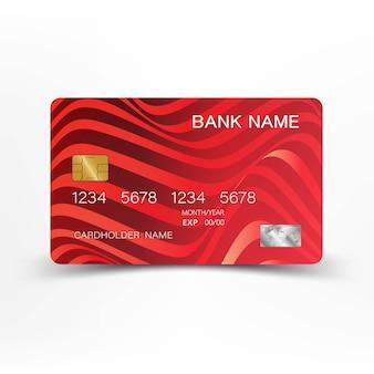 Rote kreditkarteauslegung-vektorillustration.