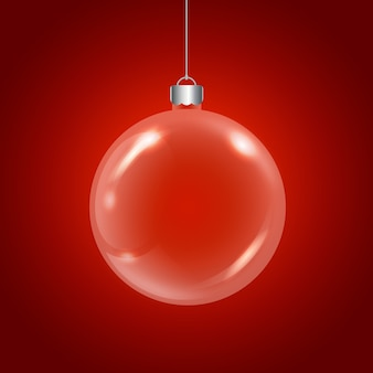 Rote kristallweihnachtskugel