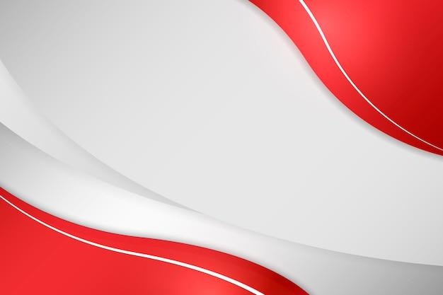 Rote kurve auf grauem hintergrund