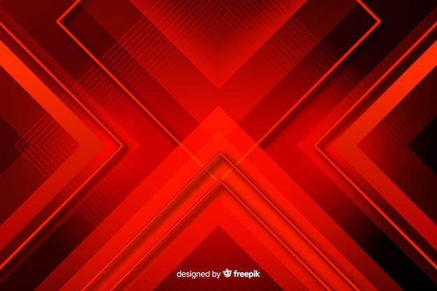 Rote lichter der dreiecke, die sich gegenüberstellen