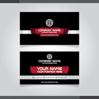 Rote moderne kreative visitenkarte und visitenkarte