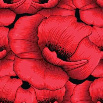 Rote mohnblume blüht abstrakten hintergrund