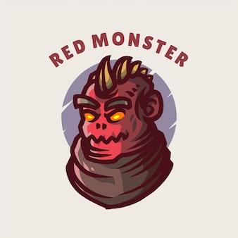 Rote monsterillustration