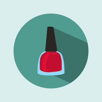 Rote nagellack-symbol
