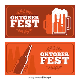 Rote oktoberfest-banner