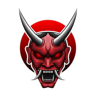 Rote oni-maske