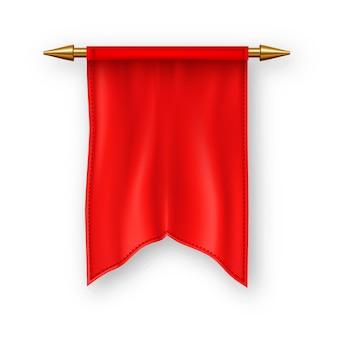 Rote pennat markierungsfahne