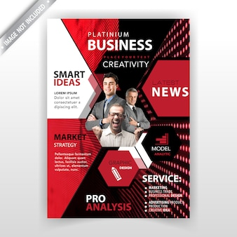 Rote polygonale magazinvorlage