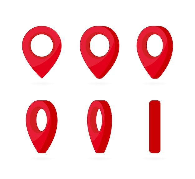 Rote positionsmarkierungen für vertikale drehung.