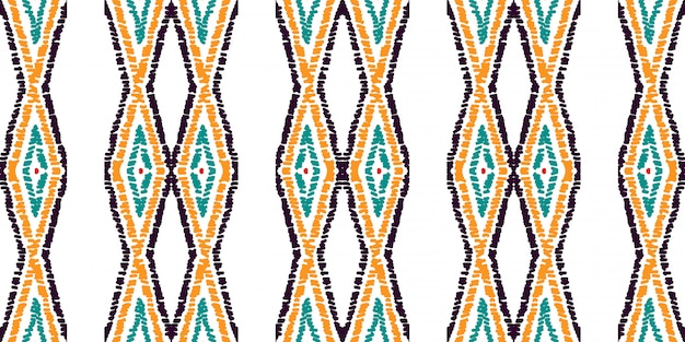 Rote raute traditionelles nahtloses muster. rotes aztekisches aquarell-motiv des batiks. mexikanisches krawatten-stammes- aquarell-motiv. bindungs-färbung.