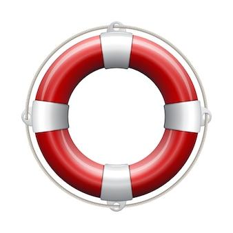 Rote rettungsboje.