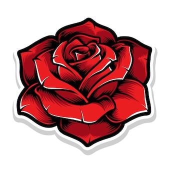 Rote rosenblume Kostenlosen Vektoren