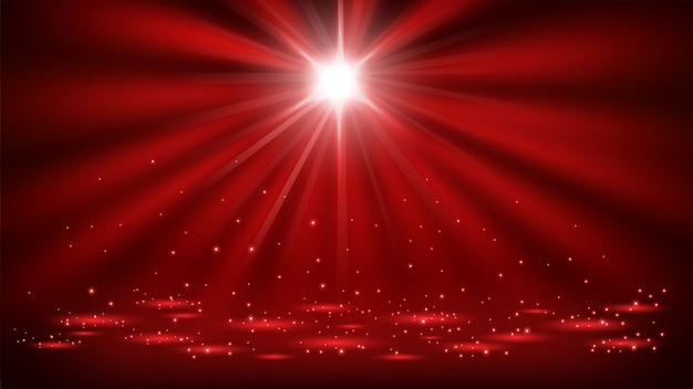 Rote scheinwerfer glänzen mit 16: 9 seitenverhältnis