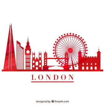 Rote skyline von london
