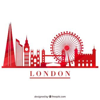 Rote skyline von london