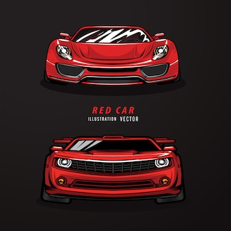 Rote sportwagenillustration.